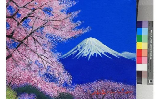 八代亜紀 油彩画 特別プラン 絵画 1点 風景