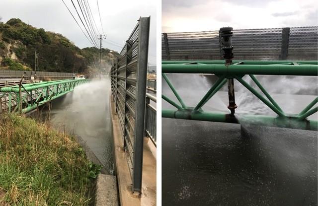 水管の破損(掛戸橋水管橋・H30.4.9撮影)