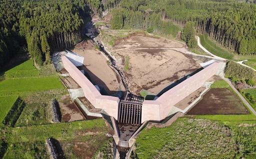 砂防ダム完成