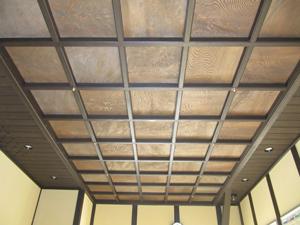 貴賓室の格天井