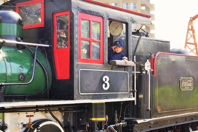 大きくなったら蒸気機関車の運転士になりたい