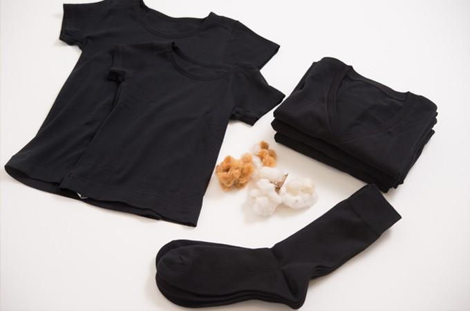 ②綿100%で肌触りよく、抗菌防臭機能つき!