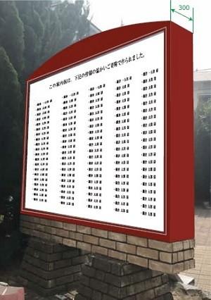 寄附者のお名前を、鎌倉のまちに大切に刻みます。