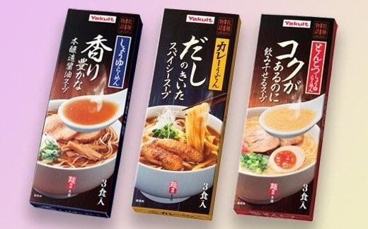 【寄贈型返礼品】乾麺物語スープ付き3種セット×2組(12食分)