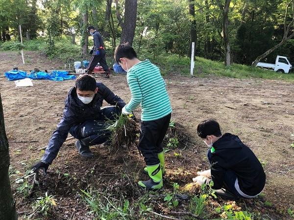卒業記念植樹祭に係る土地の開墾費用と植栽地環境整備の一部