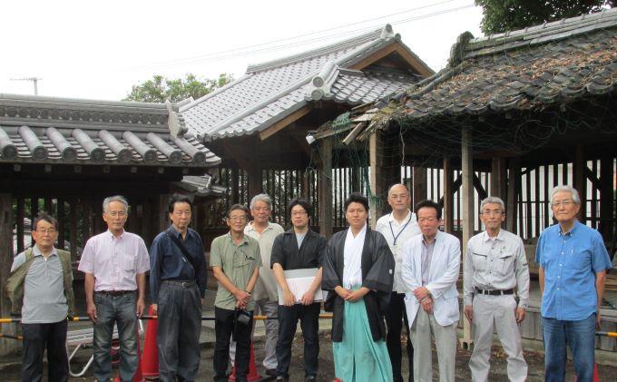 NPO法人福島八幡宮建造物保存機構の関係者