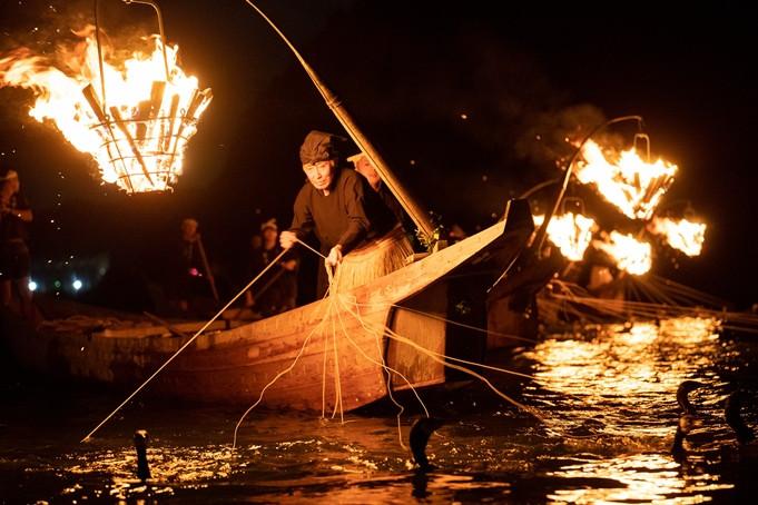 鵜舟と火入れ式