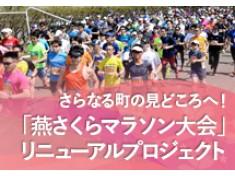 「燕さくらマラソン大会」をリニューアル!ハーフマラソンやウォーキングを新設して、より魅力的に!