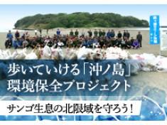 """サンゴ生息の北限域""""歩いていける無人島""""「沖ノ島」をいつまでも守りたい!"""