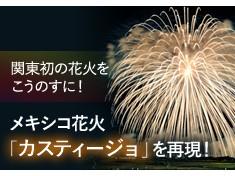 日本一のこうのす花火とメキシコ花火「カスティージョ」のコラボで盛大な花火大会にしたい!
