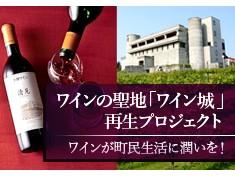 【第2弾】町民と共に歩んできた自治体初のワイナリー「ワイン城」、観光客と町民が繋がる施設に整備したい!