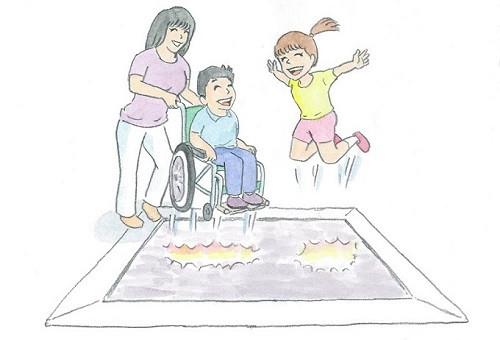 障がいがあることで公園遊びができない。そんな思いにさせたくない。車いすに乗ったままで楽しめる遊具を設置します!
