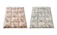 P-9 とても軽くて暖かい!! 肌かけ布団ポエム シングルサイズ 1枚(ピンク/ブルー)