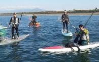 週末は湘南の海で。SUPフィッシング体験スクール