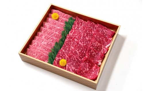 山梨県産 富士山麓牛 霜降り・赤身焼き肉セット