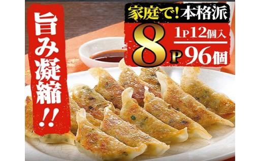 家庭で本格派!鹿児島県産黒豚餃子 大容量96個!