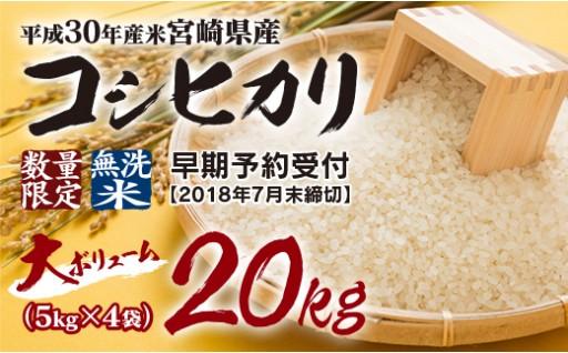 <受付開始>新米こしひかり無洗米20kg