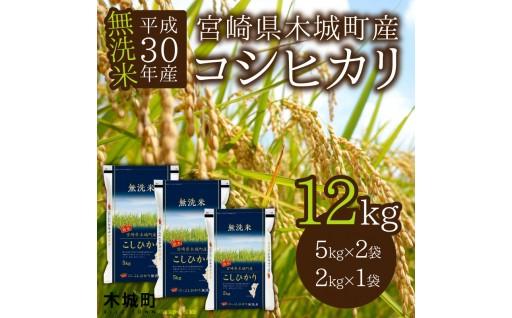 H30年産宮崎県木城町産コシヒカリ無洗米12kg