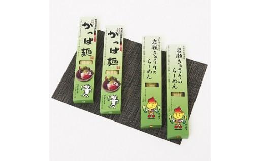 【かっぱ麺・らーめんセット】岩瀬きゅうりを使用