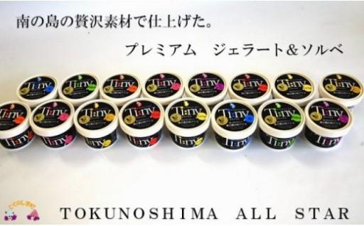 大人気!プレミアムジェラート16個!寄附1万円