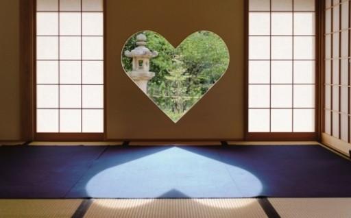 女子が恋するハート(猪目)の窓のお寺で体験♪