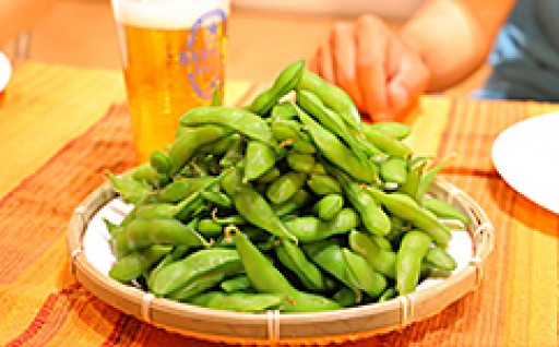 甘く味の濃い長岡産枝豆で是非ビールを一杯!