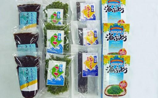 ボリューム満点!!久米島の海藻セット4種12点