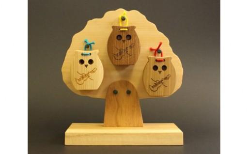 北海道産天然木材使用!フクロウカスタネット