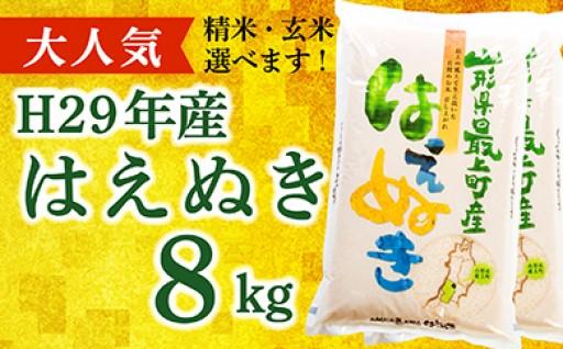 【精米】山形県最上町産はえぬき8kg