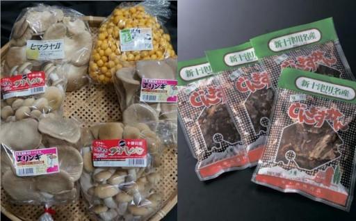 きのことジンギスカン 2町村の特産品が届きます!