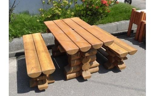 【北海道産カラマツ100%】大人気テーブルセット