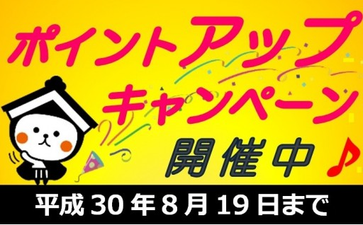 【最大20%UP】期間限定ポイントキャンペーン