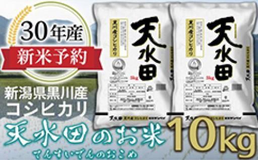 安全でおいしい「天水田」のお米♪新米予約を開始!