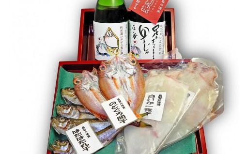 9月より配送再開!!鬼太郎の日本酒と干物セット