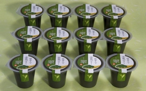 深蒸し掛川茶の粉末茶入「本葛ゼリー」翠×12個入