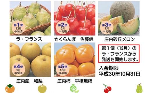 旬のフルーツをおいしい時期に5回お届けします。