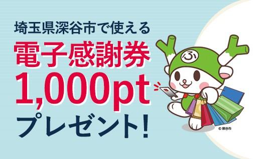 先着100名 電子感謝券1,000円分プレゼント