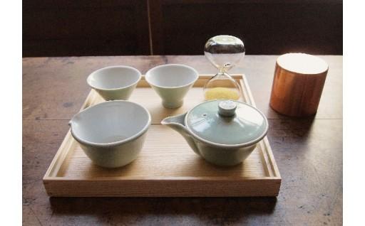 D-003 朝日焼窯元 茶盆セット