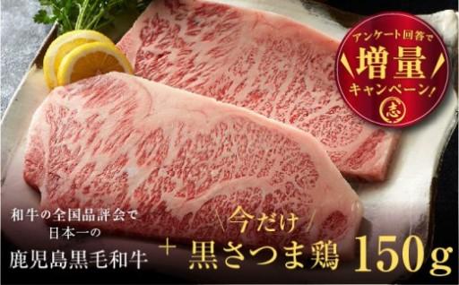 【鹿児島黒牛】ステーキ 400g!!