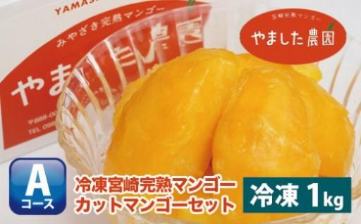 【やました農園】冷凍宮崎完熟マンゴー1kg