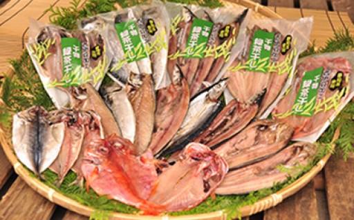 西伊豆の干物は緑茶も使う!「緑茶干し干物詰合せ」