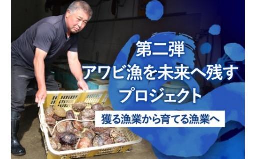アワビの漁獲高を安定させる事業です