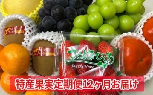 """【定期便】旬の""""特産フルーツ""""を毎月お届け!"""