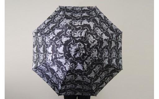 高級晴雨兼用傘『透彩』グレー系 【折りたたみ】