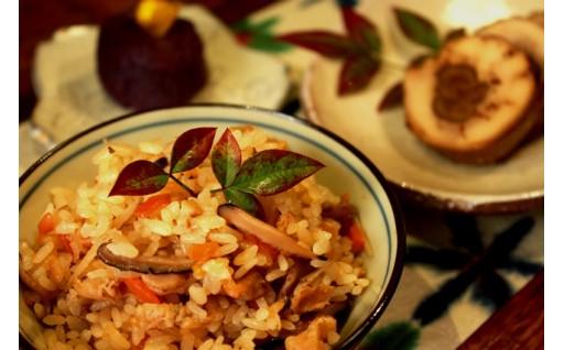 ごぼうの肉巻き&かしわ飯の素&芋きんとんのセット