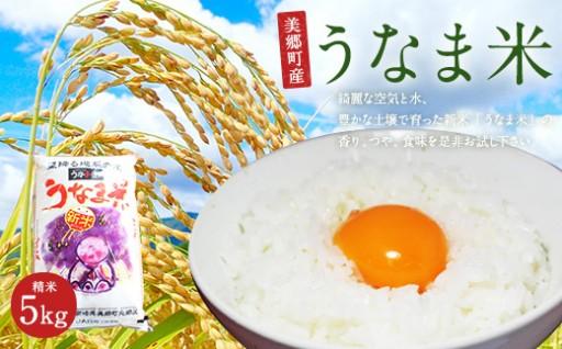 新米発送!うなま米 精米 5㎏ ヒノヒカリ