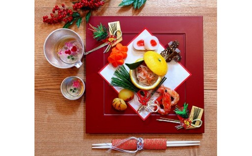 【正月特別セット】食べられる押し花と日本酒セット