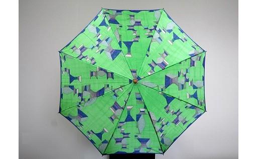ハレフネ【マイカ】晴雨兼用傘パーマネントグリーン