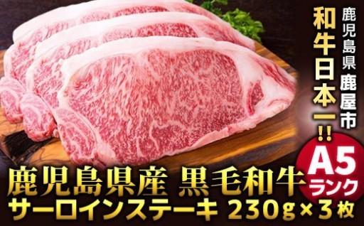 【A5等級】鹿児島県産黒毛和牛サーロインステーキ
