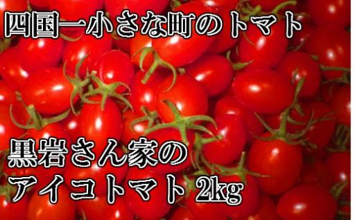 【四国一小さな町】黒岩さん家のアイコトマト2Kg